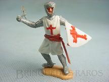 1. Brinquedos antigos - Timpo Toys - Soldado Cruzado a pé com escudo e machado Década de 1970