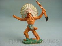 1. Brinquedos antigos - Casablanca e Gulliver - Chefe índio avançando com rifle