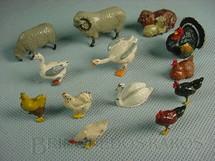 1. Brinquedos antigos - Britains - Animais domésticos diversos Farms Série Década de 1930