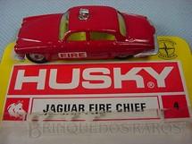1. Brinquedos antigos - Corgi Toys-Husky - Jaguar MK10 Fire Chief Husky Blister aberto Importado e Distribuído pela Estrela Ano 1970
