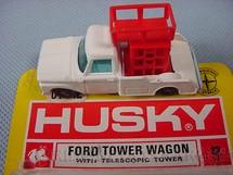 1. Brinquedos antigos - Corgi Toys-Husky - Caminhonete Ford Tower Wagon Husky Blister aberto Importado e Distribuído pela Estrela Ano 1970