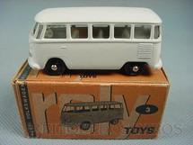 1. Brinquedos antigos - Roly Toys - Volkswagen Kombi com 7,00 cm de comprimento branca Década de 1960
