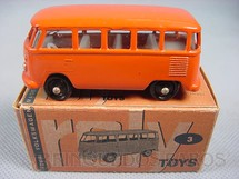 1. Brinquedos antigos - Roly Toys - Volkswagen Kombi com 7,00 cm de comprimento laranja Década de 1960