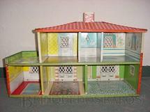 1. Brinquedos antigos - Metalma - Casa de Bonecas com 70,00 cm de comprimento por 45,00 cm de altura Lata litografada interna e externamente Década de 1950