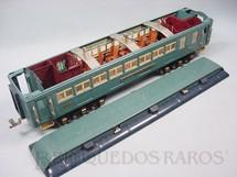 1. Brinquedos antigos - Lionel - Carro de Passageiros Westphal 421 Série Blue Comet Standard Gauge com detalhamento interno Ano 1933