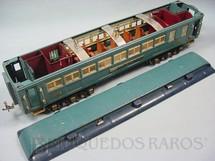 1. Brinquedos antigos - Lionel - Carro de Passageiros Faye 420 Série Blue Comet Standard Gauge com detalhamento interno Ano 1933