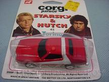 1. Brinquedos antigos - Corgi Toys-Corgi Jr. - Ford Torino Starsky and Hutch Corgi Jr Blister Lacrado Década de 1970