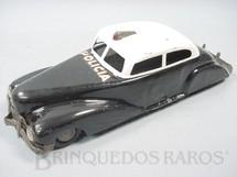 1. Brinquedos antigos - Metalma - Carro Sedan com 21,00 cm de comprimento Policia Década de 1940