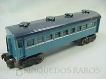 1. Brinquedos antigos - Sakai - Carro de Passageiros com 4 eixos Azul Década de 1950