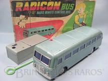 1. Brinquedos antigos - Modern Toys e Masudaya Toys - Onibus Radicon Bus Primeiro Brinquedo com controle remoto sem fio Ano 1965