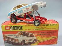 1. Brinquedos antigos - Corgi Toys - The Santa Pod Glo-Worm Dragster Década de 1960