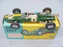 1. Brinquedos antigos - Corgi Toys - Lotus Climax Fórmula 1 Década de 1960