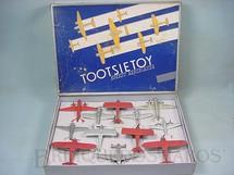 1. Brinquedos antigos - Tootsietoy - Conjunto Completo com 12 aviões Speedy Aeroplanes Década de 1940