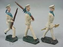 1. Brinquedos antigos - Sem identificação - Conjunto completo de três Marinheiros Semi-Flat forma Schneider