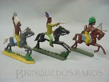 1. Brinquedos antigos - Sem identificação - Indios a cavalo Semi - Flat forma Schneider Preço por unidade