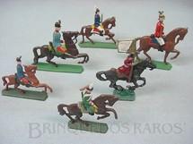 1. Brinquedos antigos - Sem identificação - Soldados a cavalo Semi - Flat forma Schneider Preço por unidade