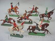 1. Brinquedos antigos - Sem identificação - Lanceiros a cavalo Semi - Flat forma Schneider Preço por unidade