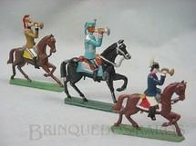 1. Brinquedos antigos - Sem identificação - Corneteiros a cavalo Semi-Flat, forma Schneider Preço por unidade