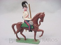 1. Brinquedos antigos - Sem identificação - Soldado a cavalo com espada 9,00 cm de altura Semi - Flat forma Schneider