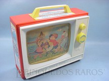 1. Brinquedos antigos - Fisher Price - Music Box TV Com as Melodias London Bridge e Row Row Row Your Boat Década de 1950