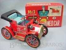 1. Brinquedos antigos - Modern Toys e Masudaya Toys - Old Fashioned Car Nº 1 Movimento por alavanca Ano 1967