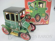 1. Brinquedos antigos - Modern Toys e Masudaya Toys - Old Fashioned Car Nº 4 Movimento por alavanca Ano 1967