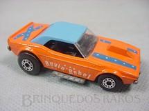 1. Brinquedos antigos - Matchbox - Dodge Challenger Superfast laranja Revin Rebel