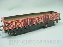 1. Brinquedos antigos - Estrela - Vagão Gôndola Ferrorama vermelho Década de 1960