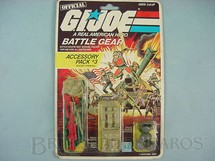 1. Brinquedos antigos - Hasbro - Accessory Pack number 3 Battle Gear completo lacrado Ano 1984