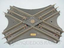 1. Brinquedos antigos - Hornby Meccano - Trilho de Cruzamento Hornby Paris Década de 1930