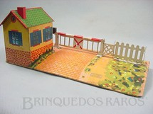 1. Brinquedos antigos - Hornby Meccano - Casa de beira de linha com Passagem de Nível e Cancela Hornby Paris Década de 1930
