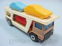 1. Brinquedos antigos - Matchbox - Inbrima - Caminhão Cegonha Bedford Car Transporter Superfast marrom Brazilian Matchbox Inbrima 1970