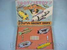 1. Brinquedos antigos - Tootsietoy - Conjunto completo com quatro naves e duas figuras Buck Rogers 25th Century Rocket Ships Ano 1937