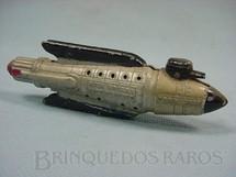 1. Brinquedos antigos - Tootsietoy - Nave Espacial Battle Cruiser prata com 12,00 cm de comprimento Buck Rogers 25th Century Rocket Ships Ano 1937