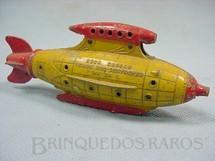 1. Brinquedos antigos - Tootsietoy - Nave Espacial Venus Duo-Destroyer amarela com 12,00 cm de comprimento Buck Rogers 25th Century Rocket Ships Ano 1937