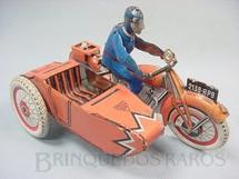 1. Brinquedos antigos - S.F.A. - Motocicleta e Side Car com 17,00 cm de comprimento Década de 1930