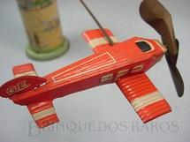 1. Brinquedos antigos - Sem identificação - Avião vermelho com 11,00 cm de comprimento Made in US Zone Década de 1950