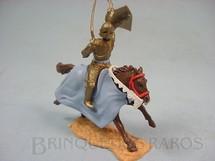 1. Brinquedos antigos - Timpo Toys - Guerreiro medieval a cavalo com espada e escudo