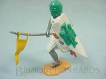 1. Brinquedos antigos - Timpo Toys - Guerreiro medieval a pé com lança e escudo