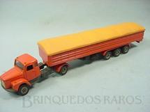 1. Brinquedos antigos - Arpra - Cavalo Mecânico Scania Vabis L111 com Semi Reboque Graneleiro