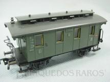 1. Brinquedos antigos - Fleischmann - Carro de Passageiros com dois eixos 3ª classe DB Made in US Zone Ano 1954