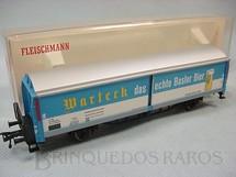1. Brinquedos antigos - Fleischmann - Vagão furgão com laterais deslizantes Cerveja Marteck Ferrovia estatal suíça Década de 1970