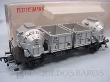 1. Brinquedos antigos - Fleischmann - Vagão prancha com containers siderúrgicos DB Década de 1970