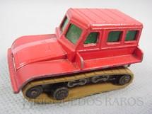 1. Brinquedos antigos - Matchbox - Snow Trac esteira marrom