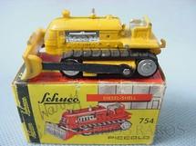 1. Brinquedos antigos - Schuco - Trator de esteiras Deutz Piccolo numerado 754 Década de 1950