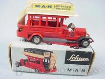 1. Brinquedos antigos - Schuco - Onibus MAN de dois andares Série Piccolo Década de 1950