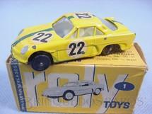 1. Brinquedos antigos - Roly Toys - Willys Interlagos Berlineta com 7,00 cm de comprimento Número 22 Equipe Willys pilotado por Bird Clemente Original Década de 1960