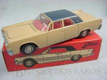 1. Brinquedos antigos - Tekno - Lincoln  Continental marrom e azul Década de 1970
