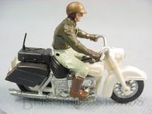 1. Brinquedos antigos - Britains - Motocicleta Harley Davidson U.S. Sheriff com motociclista Década de 1970