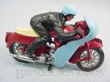 1. Brinquedos antigos - Britains - Motocicleta Triumph Speed Twin com motociclista Década de 1970